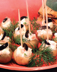 Cheese- filled mushrooms